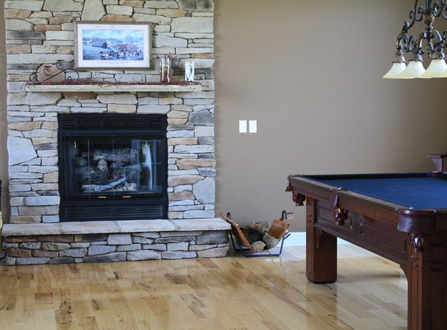 Fireplace Game Room